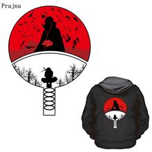Prajña Naruto Anime Stickers Ijzer Op Patches Voor Kleding Diy Uchiha Clan Badge T-shirt Jas Grade-Een Thermische Transfer stickers(China)