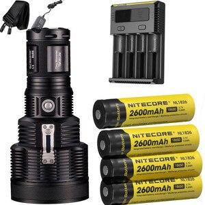 Image 2 - NITECORE TM38 Lite rechargeable flashlight CREE XHP35 HI D4 max 1800 lumen outdoor searchlight beam throw 1400 meter torch