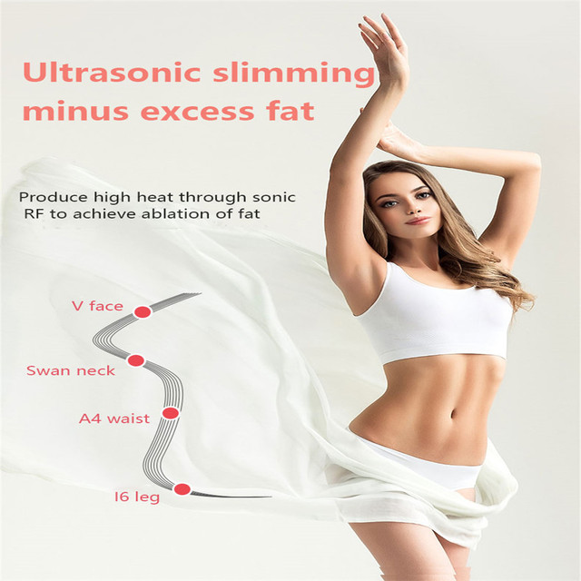 3 in 1 Ultrasound Cavitation EMS Body Slimming Weight Loss Anti-Cellulite Fat Burner Galvanic Infrared Ultrasonic Massager 4