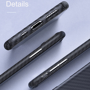 Image 5 - 0.7mm Ultra Thin יוקרה סיבי פחמן דפוס עבור iPhone 11 פרו מקסימום מקרה כיסוי ארמיד סיבי מקרה עבור iPhone 11Pro XS Max XR X