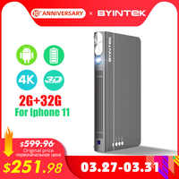 BYINTEK Mini 3D Proiettore P12,Android 6.0, Wifi Intelligente Tasca Portatile Video Beamer, DLP A LED lAsEr Proiettore Mobile Per Smartphone