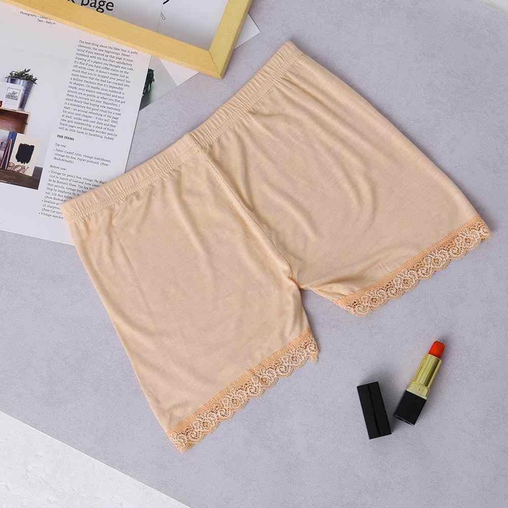 Wygodne włókna bambusowe kobiet bezpieczeństwa spodenki pod spódnica koronki na spódnice Shorty spodnie rozciągliwe gorące spodnie elastyczna opaska брюки юбка