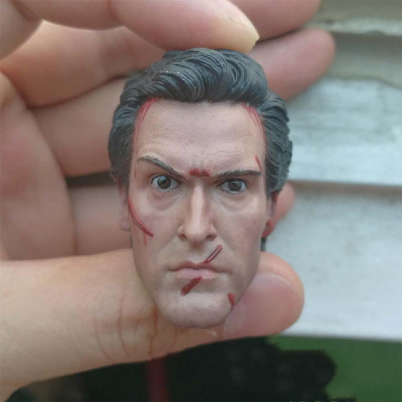 Delicate Painting 1/6 Scale The Evil Dead 2 Ash Williams Henrietta Wounded Head Sculpt Damage For 12 inches Body Action Figure image