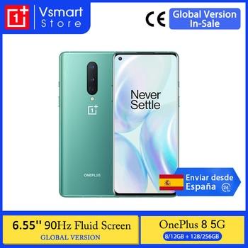 Global Version OnePlus 8 5G Smartphone Snapdragon 865 Octa Core 6.55'' 128GB AMOLED Screen 48MP Triple Cams 4300mAh Warp 30T