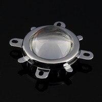 1 conjunto de alta qualidade 30 w 50 100 led 44mm lente + refletor colimador suporte fixo transporte da gota