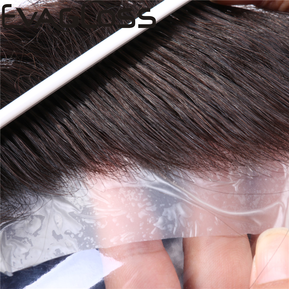 Men's Wig 0.02-0.04mm Super Thin Skin Mens Toupee Men's Hair Pieces Unit Hair Replacement System Remy Human Hair Wig For Men