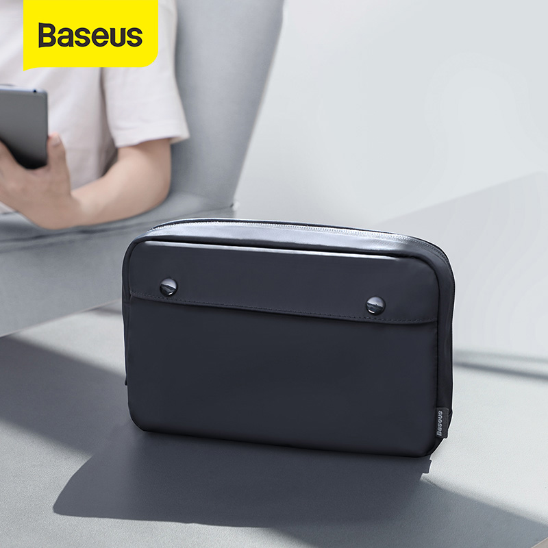 Baseus Portable Travel Accessories Storage Bag Electronic Gadgets Charger Cable Organizer Zip Bag Waterproof Makeup Cosmetic Bag 1