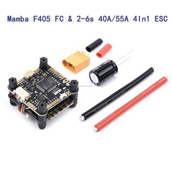 Mamba F405 Flight Controller & 2-6s BS-40A 40A / BS-55A 55A 4In1 ESC BLHeli_S Brushless ESC support Oneshot / Multishot /Dshot
