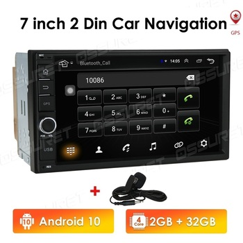 2din Car Radio Android Mirrorlink Bluetooth GPS Wifi FM Car Multimedia MP5 Player For Volkswagen Nissan Hyundai autoradio DTV BT image