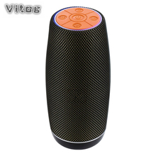 VITOG TG108 Wireless Bluetooth Speaker Portable Outdoor And School Stereo Sound Subwoofer Retro Style
