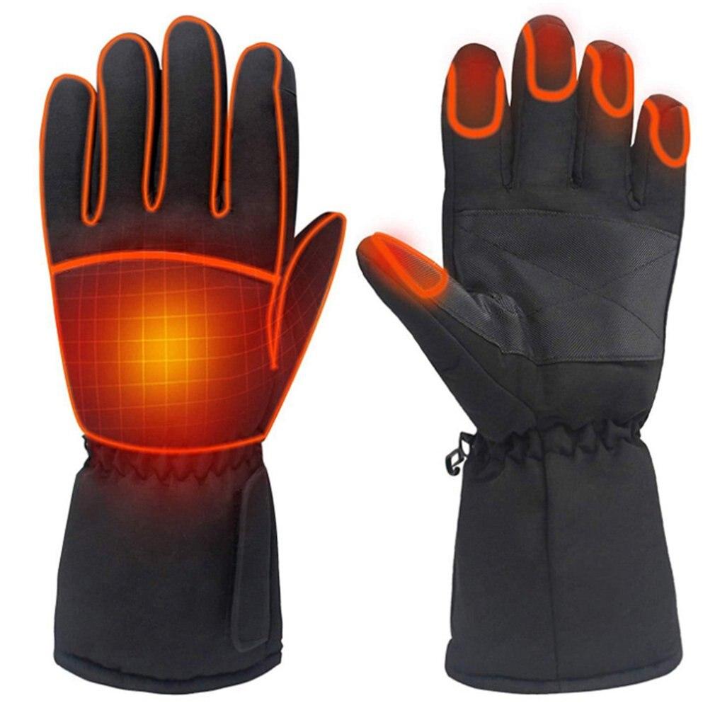 Перчатки с инфракрасным подогревом для мужчин и женщин, зимние эластичные с электроподогревом для рыбалки, походов
