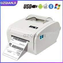 4 cal termiczna drukarka etykiet z wysokiej prędkości 160mm/s USB Bluetooth do drukowania naklejki/drukarka etykiet