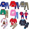 2020, хлопковые Пижамные комплекты для девочек и мальчиков, мультяшная Рождественская одежда для сна для малышей, пижамы, детский Пижамный ко...