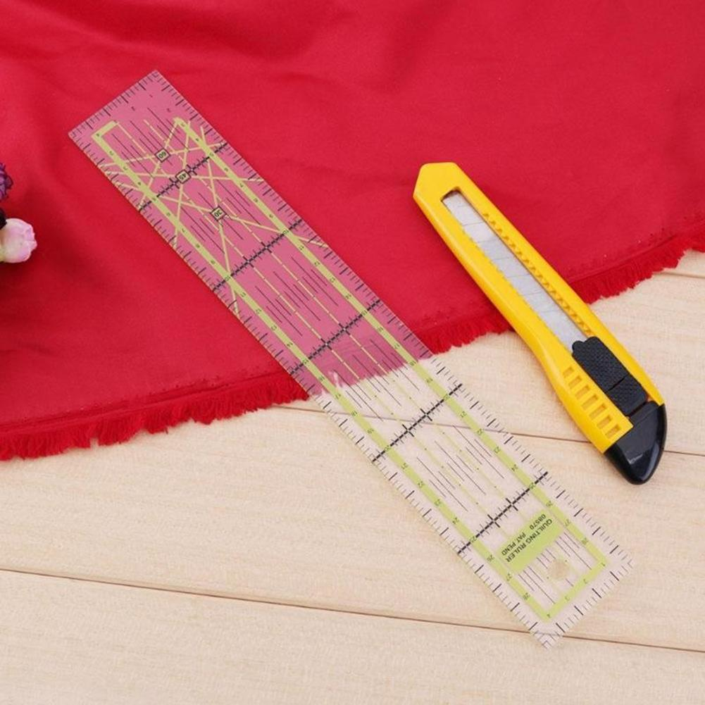 Portable Patchwork Feet Ruler DIY Handmade Quilting Tailor Sewing Craft Tool