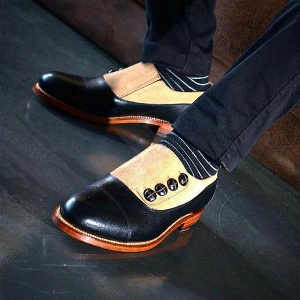Men Leather Shoes Low Heel Casual Shoes Dress Shoes Brogue Shoes Spring Ankle Boots Vintage Classic Male Casual NE035