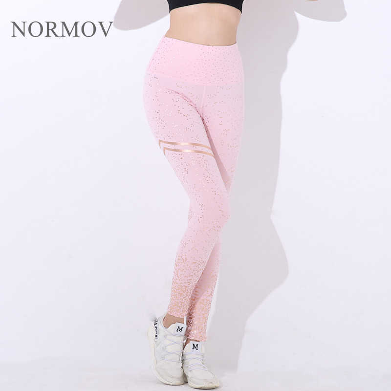 NORMOV ใหม่ Hotsale ผู้หญิงพิมพ์กางเกงขายาวไม่มีโปร่งใสออกกำลังกายกางเกงขายาว Push Up ออกกำลังกายหญิงกางเกง