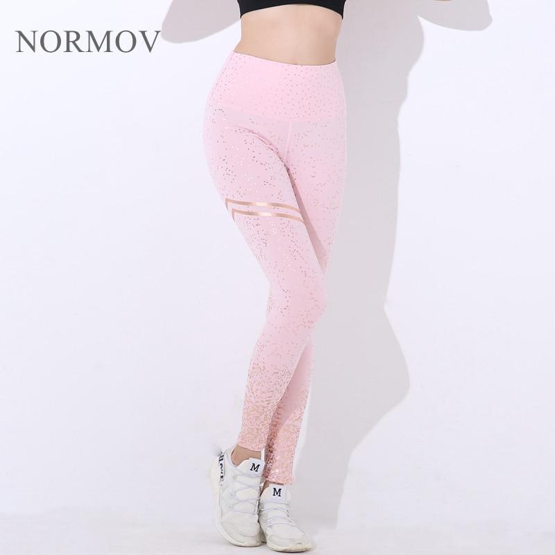 normov nova hotsale mulheres ouro imprimir leggings 01