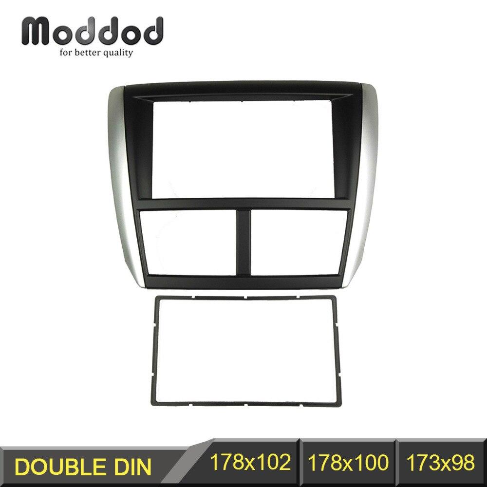 Dubbel Din Autoradio Fascia Voor Subaru Forester 2008-2012 Impreza 2007-2012 Stereo Panel Dash Cd Trim installatie Kit Frame