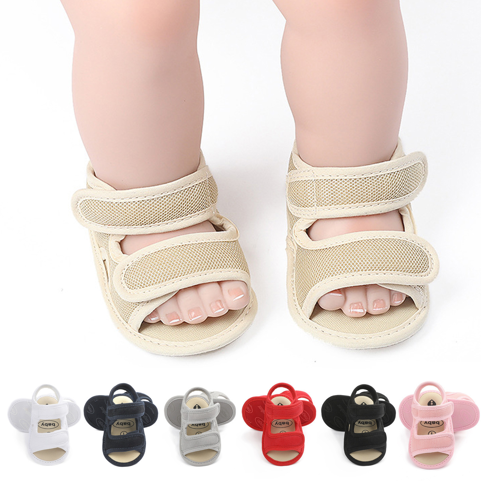Summer Cute Solid Color Baby Toddler Shoes Sandals Baby Shoes Baby Shoes Soft Solid Color Shoes Children Baby Toddler Shoes