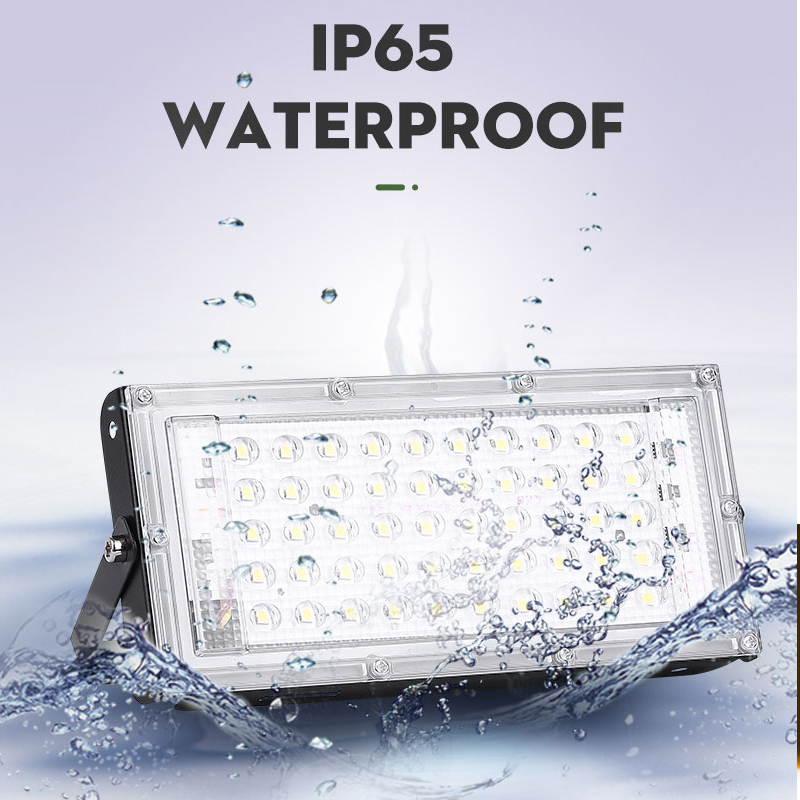2pcs 50W led flood light AC 220V 230V 240V outdoor foco LED lighting Waterproof Ip65 street lamp building Landscape searchlight