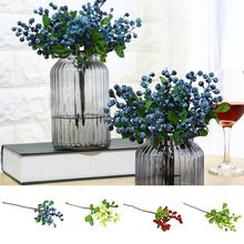 new 1 Pc Artificial Plastic Fruit Blueberry Green Plant Home Hotel Cafe Decoration Lifelike Beautiful Non-fade Decor