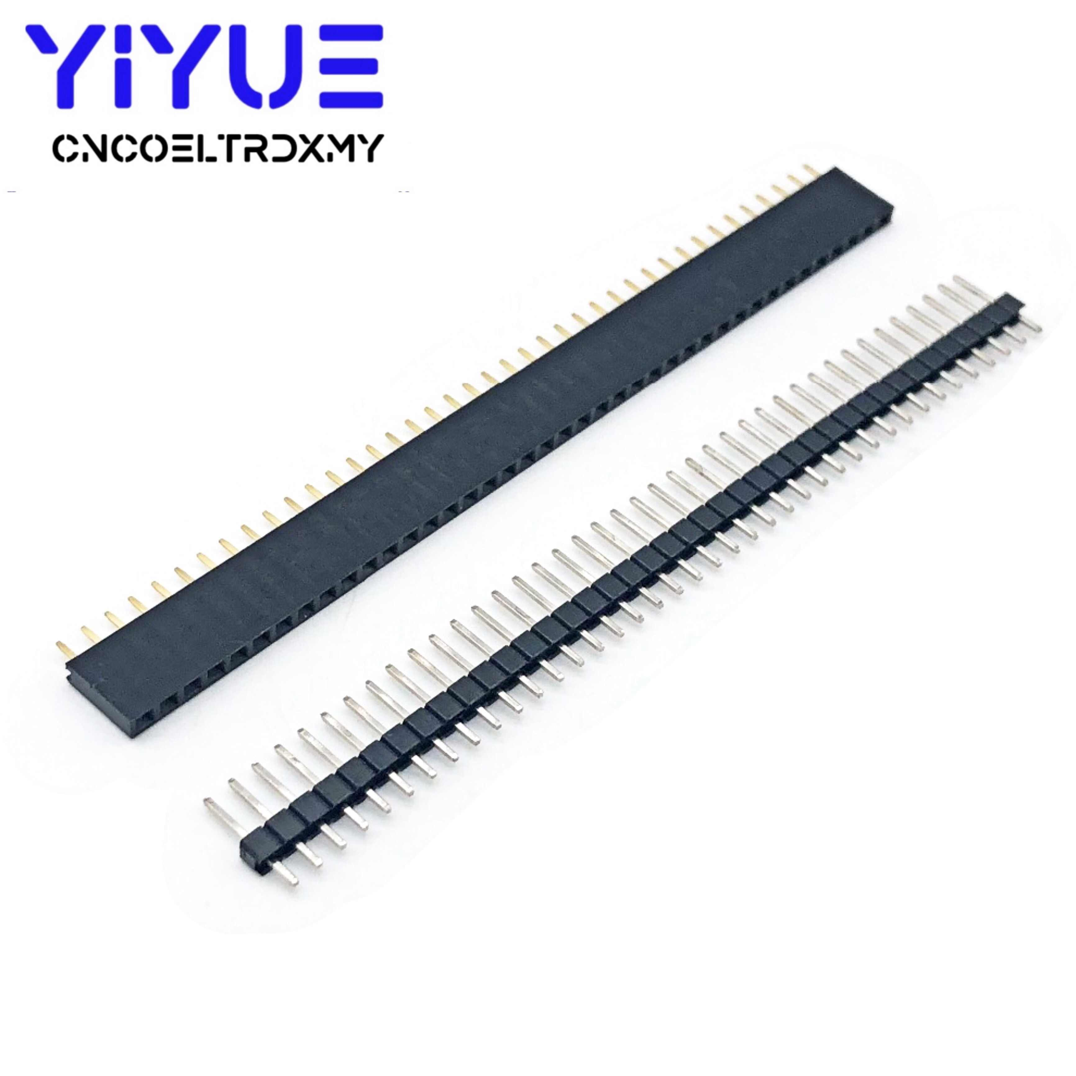 Pin Strip 2.54mm Pack 5 Pin Header 40 Way Straight 0.1 Pitch