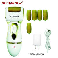 KIMISKY Electric Foot Care Tool Pedicure tools Foot File Shoes Woman Pedicura Velvet Smooth Feet Pies Callos Dead Skin Remover