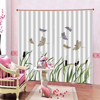 Customized size Luxury Blackout 3D Window Curtains For Living Room simple morden curtains green plant curtain