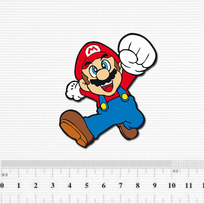 Cartoon Super Mario Waterdichte Sticker Voor Bagage Auto Gitaar Skateboard Telefoon Laptop Fiets Kids Stickers