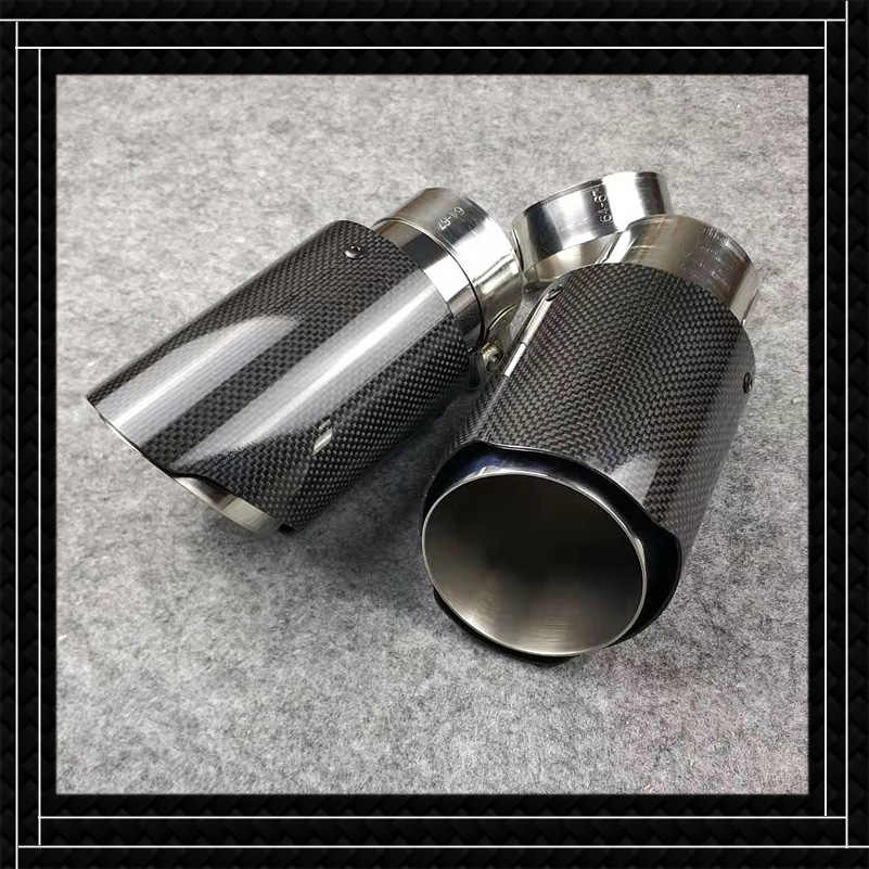 1 piece real carbon fiber exhaust pipe fit for all cars replacement car exhaust pipe length 175mm for akrapovic muffler tip
