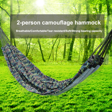 Camouflage Hammock Hanging Chair Ultralight Double Hammock Outdoor Camping Portable Hamacas Garden Swing Bed Travel Hiking Tent недорого