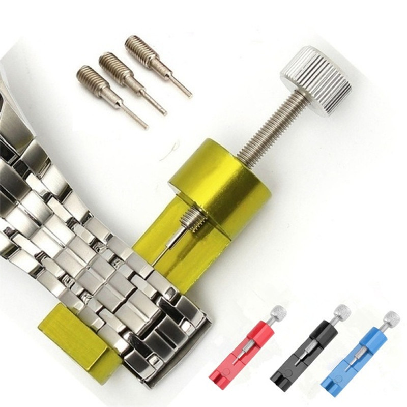 New Watch Band Link Pin Remover Tool Spring Bars Pins Watch Repair Tool Kit Set Watch Chain Adjustment Tool+3 Pins