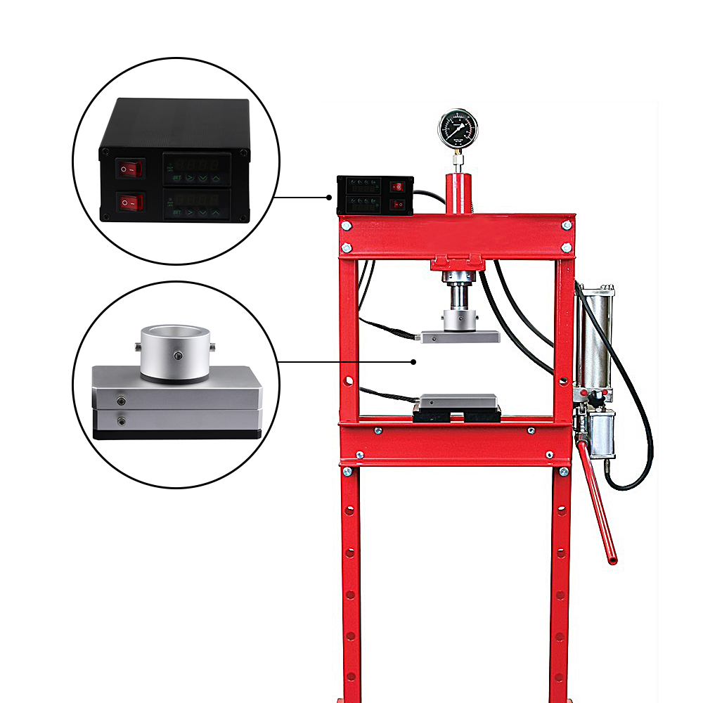 Max 20Tons Adjustable Pressure RPP-47 Rosin Press Machine 4*7inch PID Dual Heating Plates Temp Control Hydraulic Extracting Kit