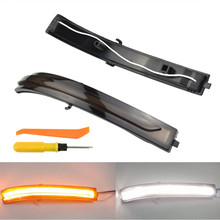 цена на LED Turn Signal Light Yellow White For Kia Optima K5 TF 2011 2012 2013 2014 2015 Dynamic Flowing Mirror Sequential Blinker