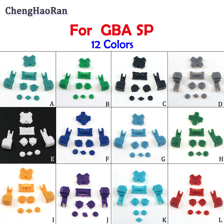 ChengHaoRan 1set 12colors For Nintend GBASP host button GBA SP <font><b>game</b></font> machine <font><b>color</b></font> button red button GBASP repair accessories image