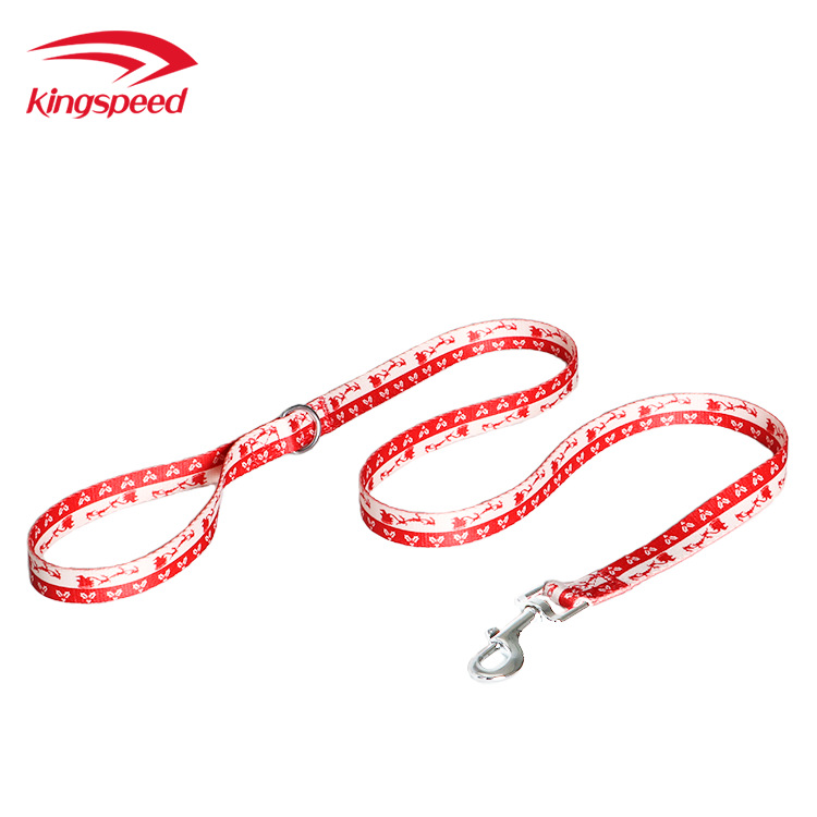 Pet Supplies Christmas Pattern Bandlet Hand Holding Rope Dog Neck Ring Haulage Rope Package