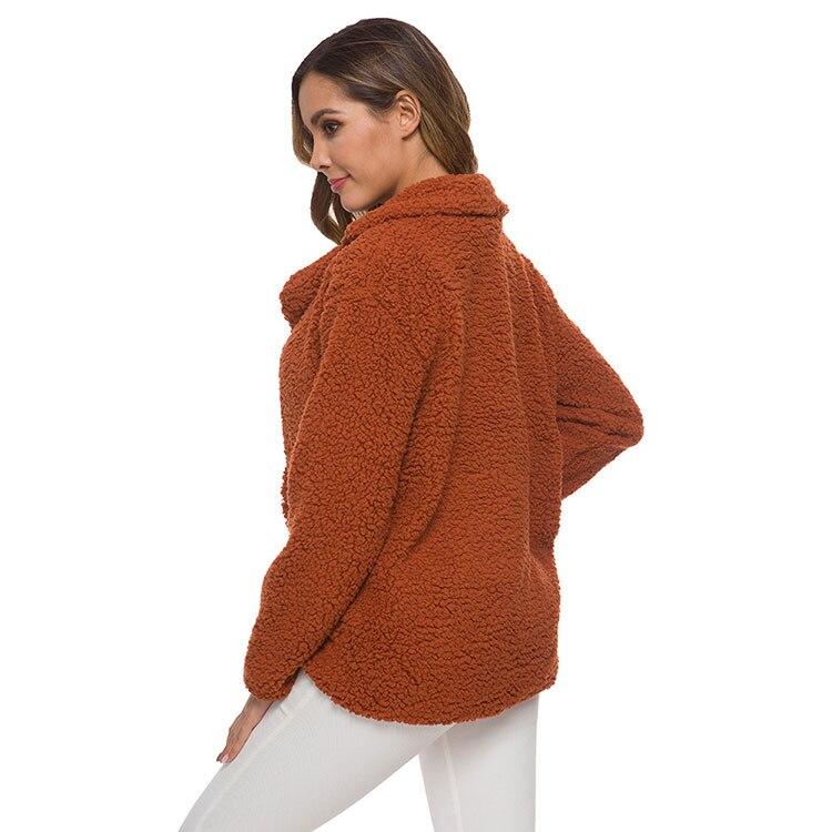 He740b6751e224c09bda6dba38cb55b53M Women winter jacket 2019 fashion new double-breasted sweaters lapel loose fur jacket women outwear women coat ladies jacket