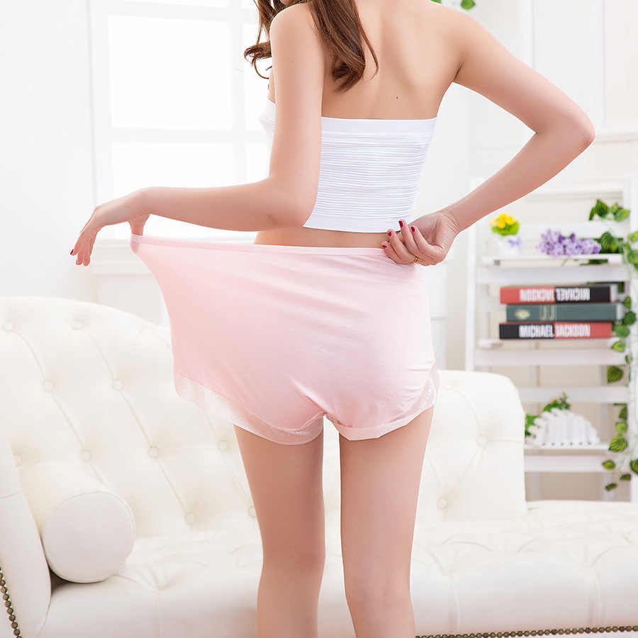 Baru Wanita Celana Sexy Lingeries Plus Ukuran 7XL Ukuran Besar Bernapas Modal Hollow Celana Dalam Wanita Celana Dalam Wanita