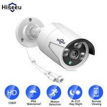 Hiseeu câmera de vigilância residencial, 3.6mm de largura ip 1080p alerta de e-mail onvif p2p detecção de movimento acesso remoto poe vídeo vigilância cctv ao ar livre,