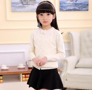 Image 4 - 2020 spring childrens clothes girls sweaters casual solid long sleeve baby girl knitted cardigan sweaters for girls big kids