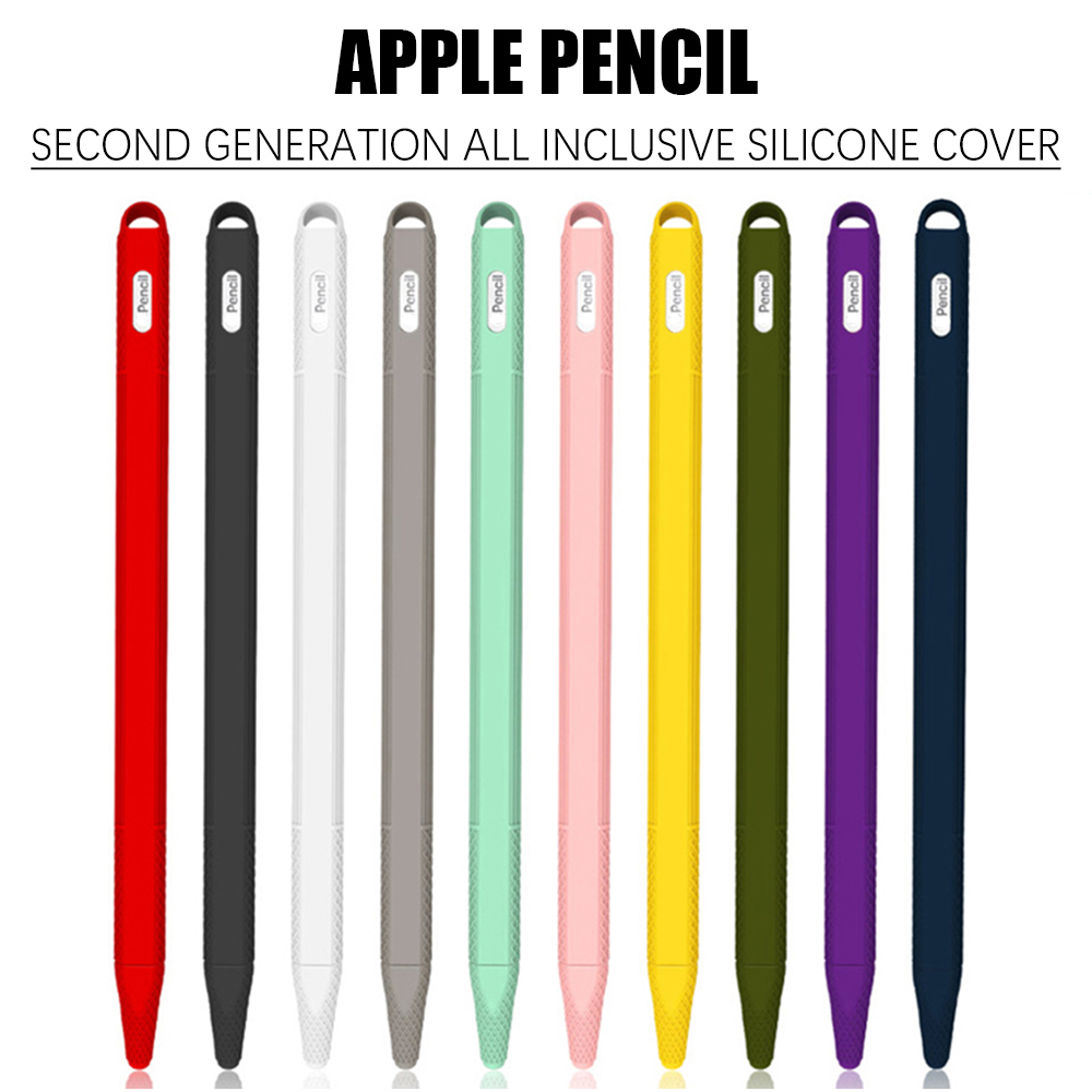 Apple Pencil 2 Case Cover Tablet Pen Case iPad Pen Protective Skin Soft Silicone Tip Cover Holder Tablet Touch Pen Sleeve