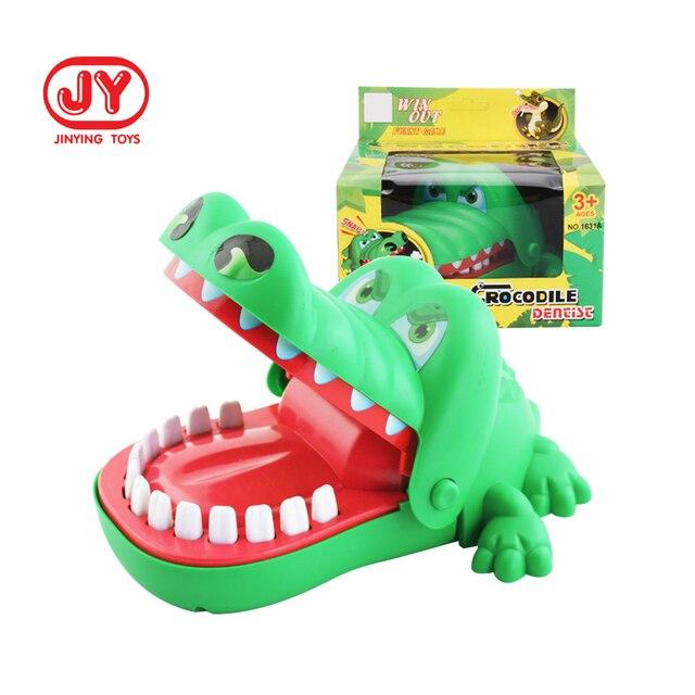 Creative Practical Joke Crocodile Mouth Dentist Bite Finger Game Funny Gags Educational Toys 1