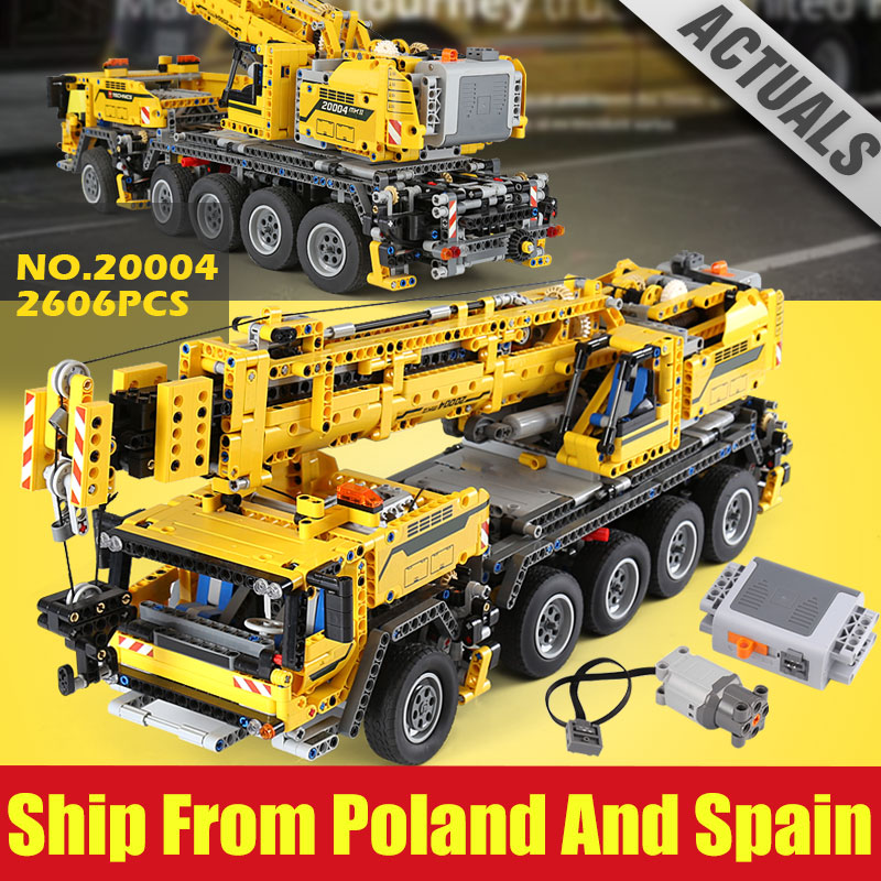 New Technic Motor Power Mobile Crane MK II 2606 pcs Compatible 42009 Model