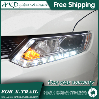 Headlights For Car Nissan X-trail 2014-2016 Rouge DRL Day Running Light Head Lamp LED Bi Xenon Bulb Fog Lights Car Accessory