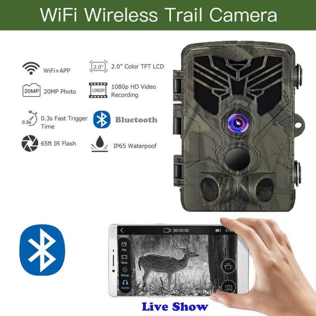 Live Show Wild Trail Camera  Wifi APP Bluetooth Control Hunting Cameras Wifi830 20MP 1080P Night Vision Wildlife  Photo Traps 1