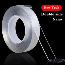 1/2/3/5M многоразовые нано- лента-липучка «magic tape» двойная сторона, многофункциональные, двусторонняя, Не оставляющий следов надежный дизайн моющийся с адгезионным покрытием лента клеем гаджет