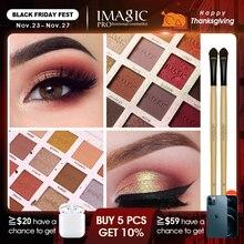 IMAGIC Fashion paleta cieni do powiek 16 kolorów matowa paleta cieni do powiek trwały makijaż Nude zestaw do makijażu kosmetyki wyślij pędzel
