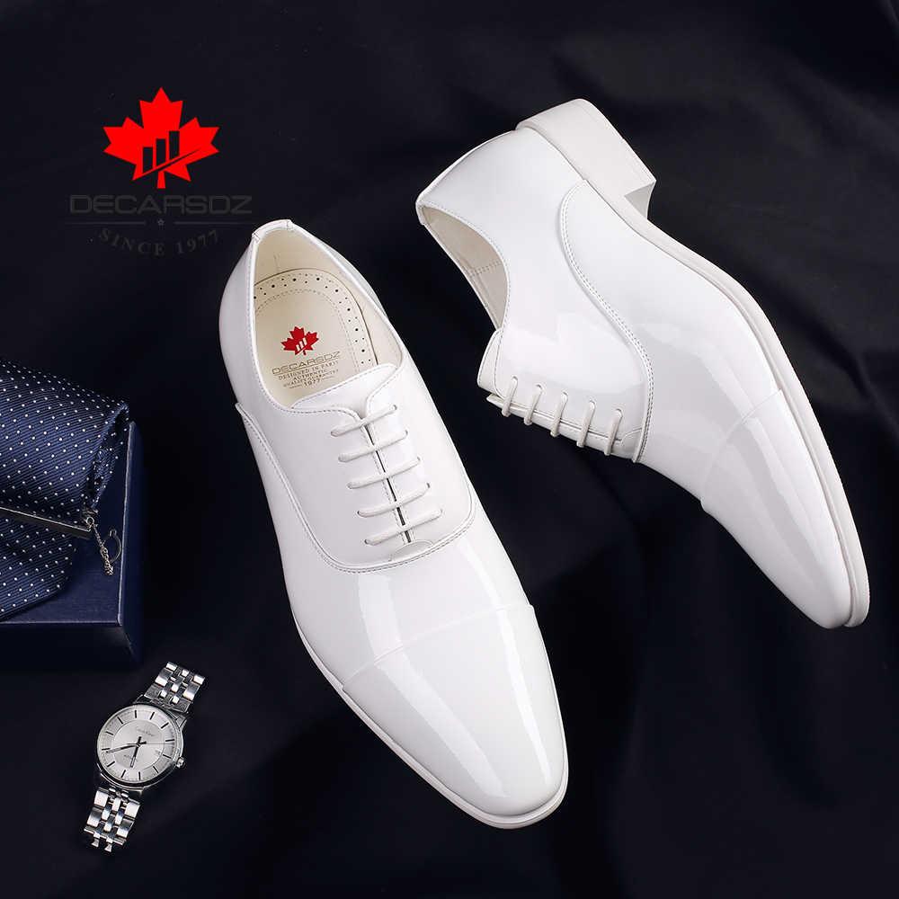 الرجال الأحذية الرسمية 2020 موضة براءات الاختراع والجلود فستان أحذية الرجال الخريف والشتاء العلامة التجارية الأعمال مكتب الزفاف الأحذية أحذية رجالي