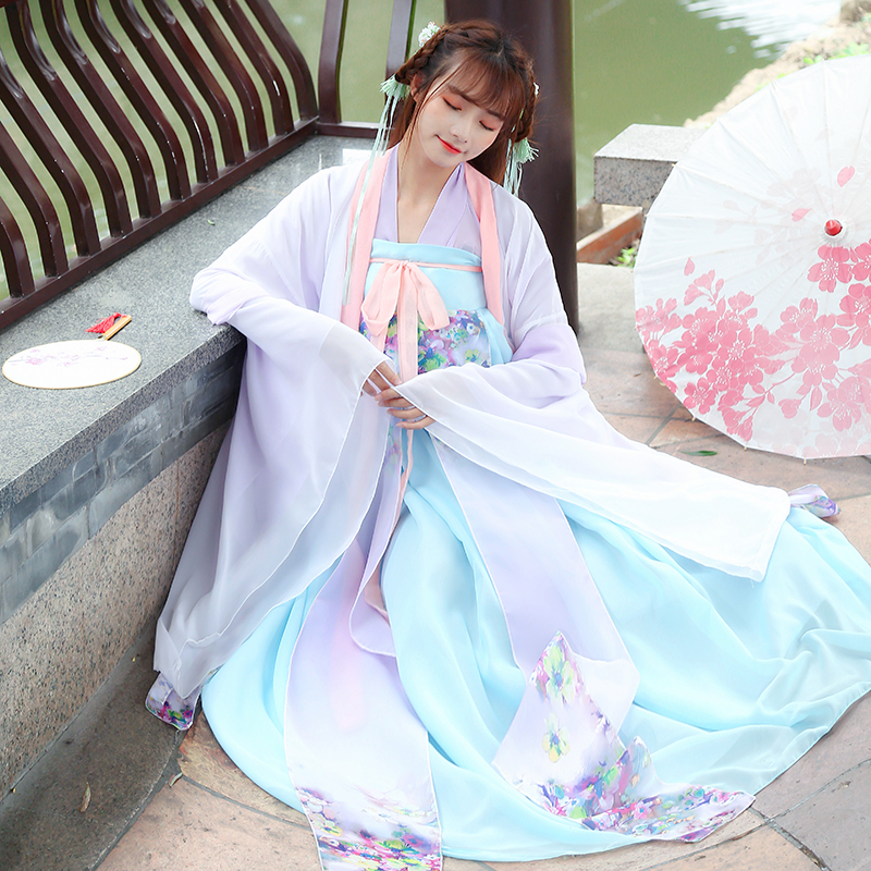 Chinese Traditional Fairy Dance Costume Ancient Hanfu Clothing Women Oriental Folk Dancewear Lady Tang Dynasty Princess Clothing