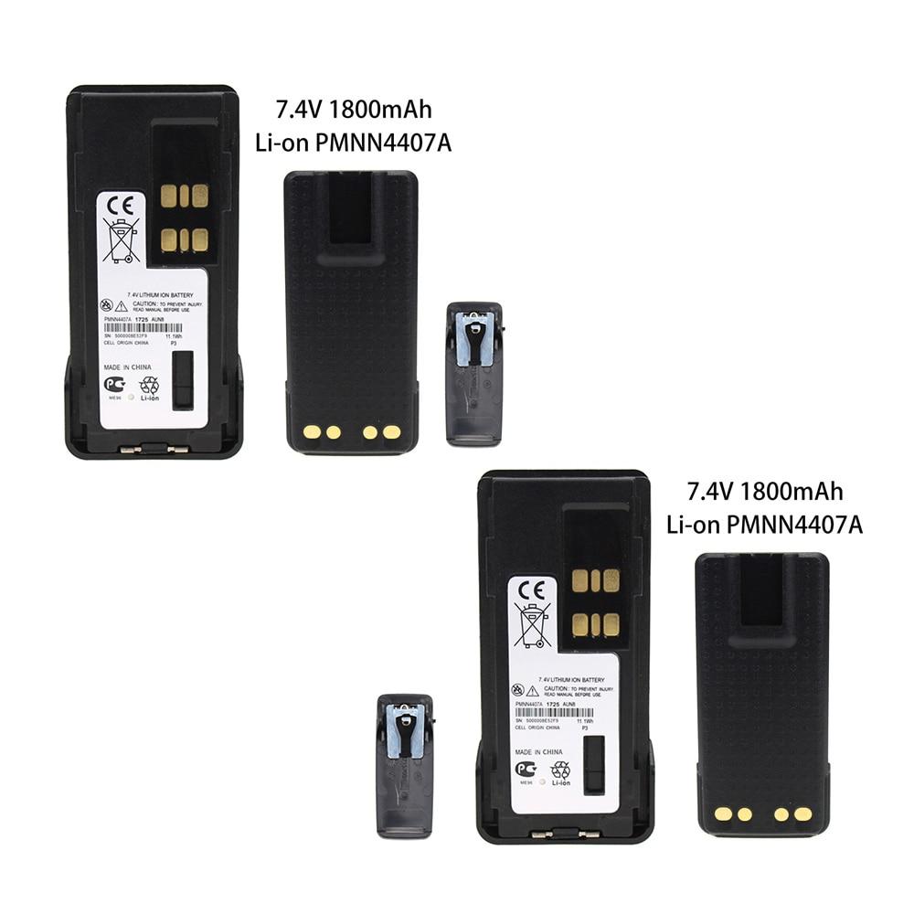2 Pcs PMNN4409 Battery For Motorola XPR3300 XPR3500 XPR7350 XPR7380 XPR7550 XPR7580 Radio  7.4 V 1800mAh Li-ion